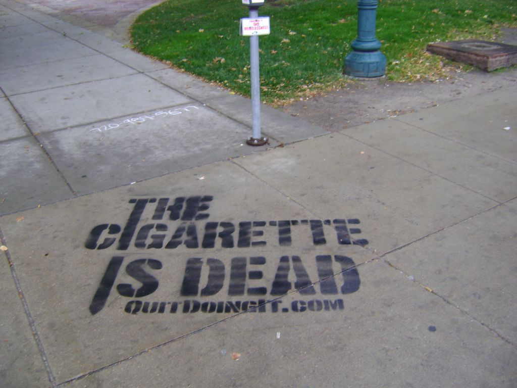 Chalk art on college campus