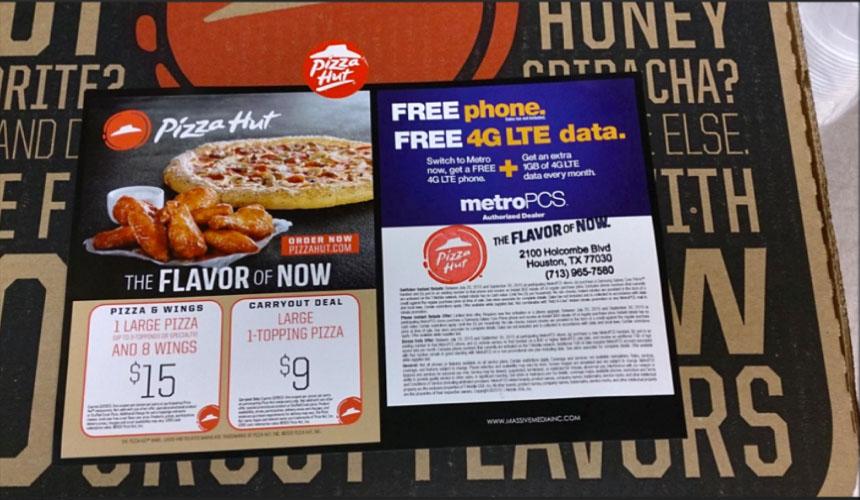 pizza topper ad