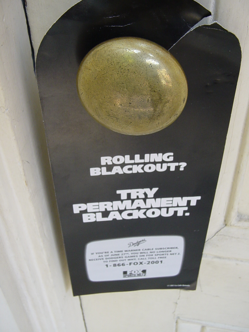 posting doorhangers