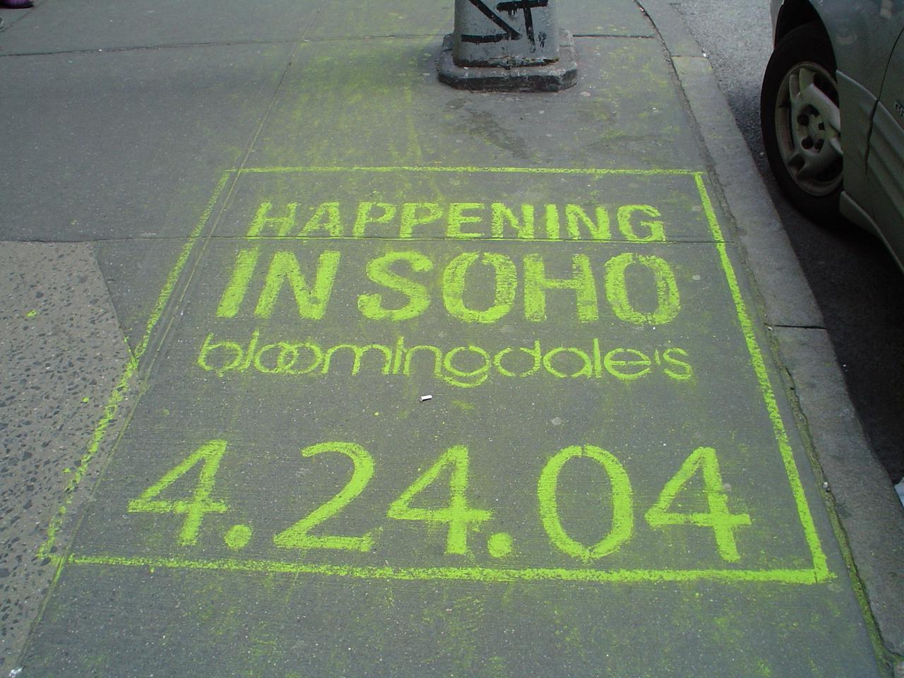 Cool Sidewalk Chalk advertising