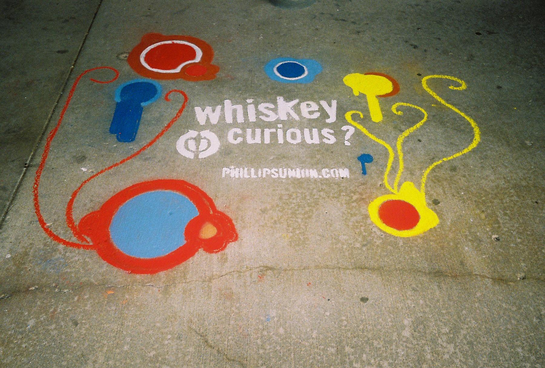 sidewalk chalk advertising