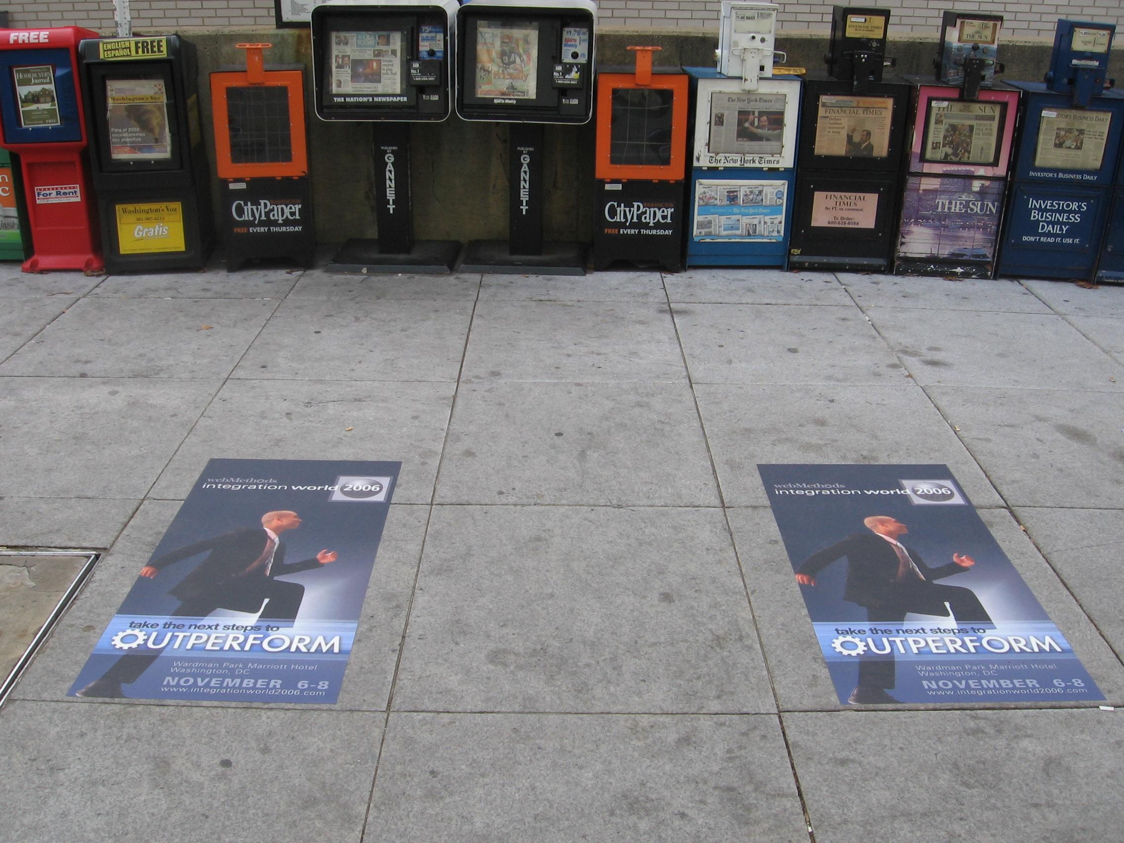 cool sidewalk advertising