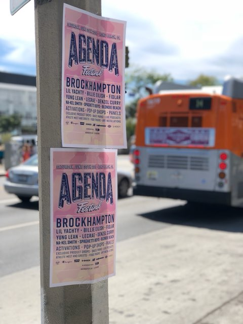 cool posted flyer on pole advertising