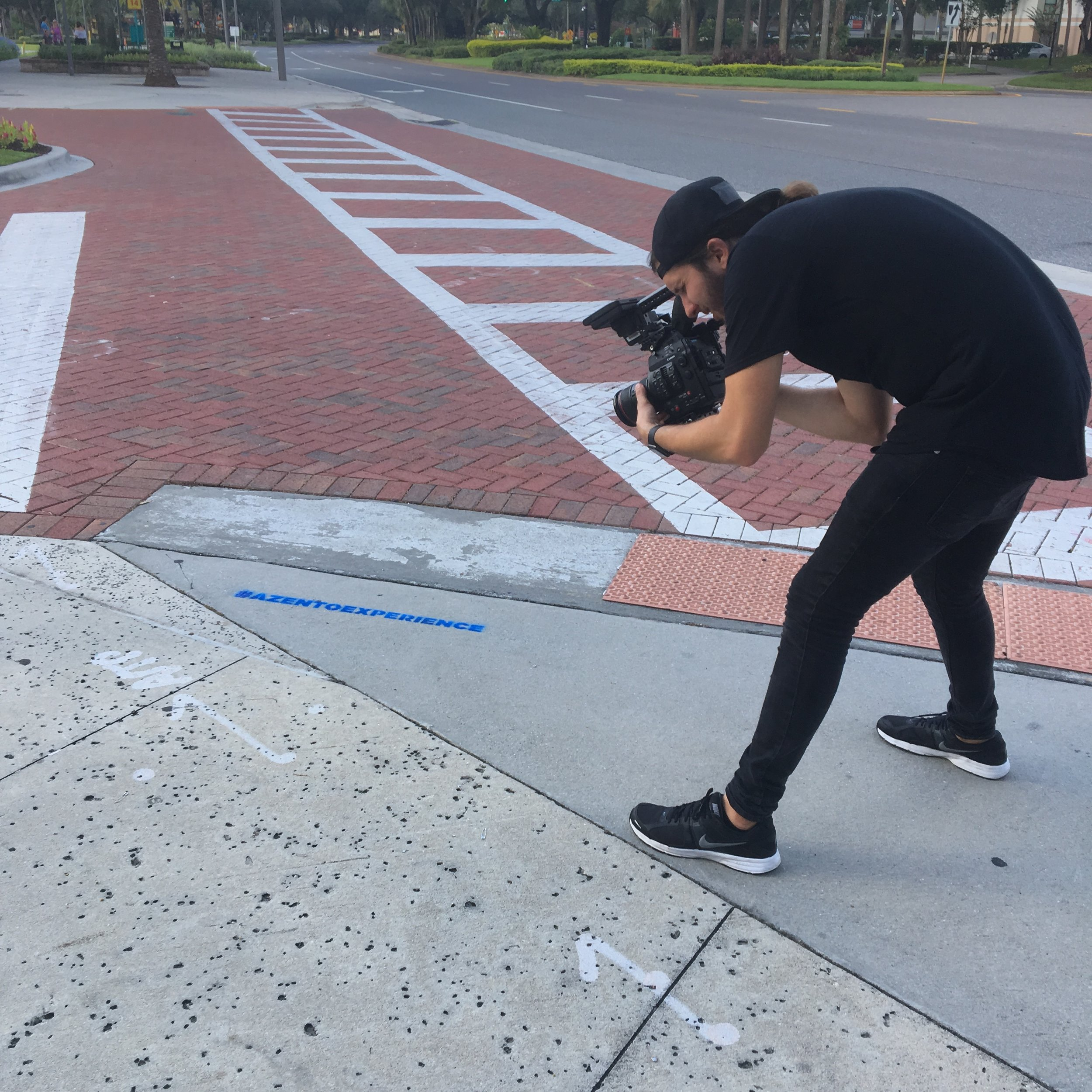 Sidewalk chalk messaging gets press.JPG