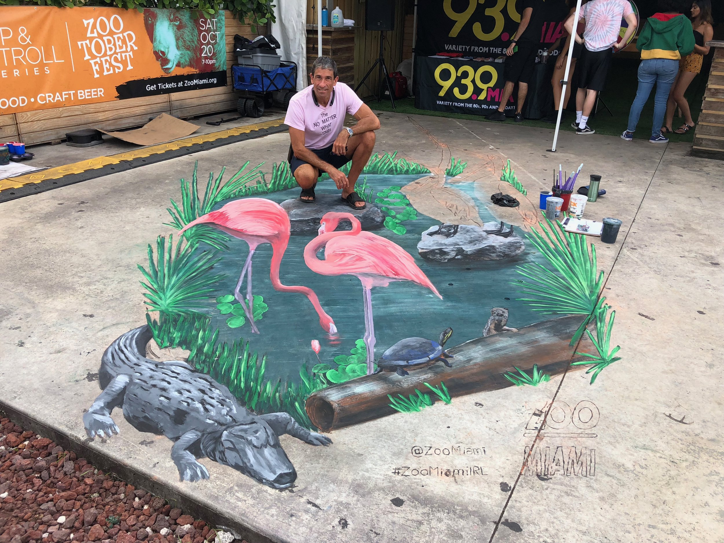 People love to share their photos with 3d Chalk Art