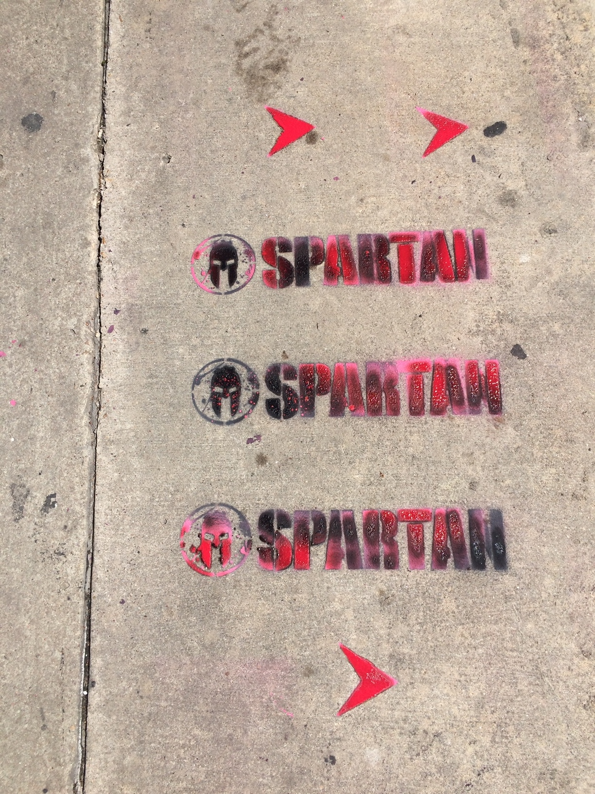 temporary chalk art tagging