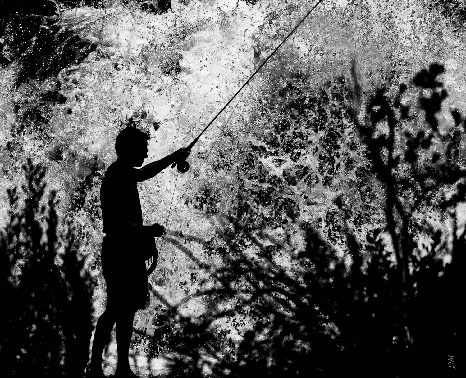 Loved the silhouette of this fisherman at a waterfall near Tarryall Reservoir in COlorado. Has sentimental value to me because my brother was with me when I took this and it was the last time I saw him alive.