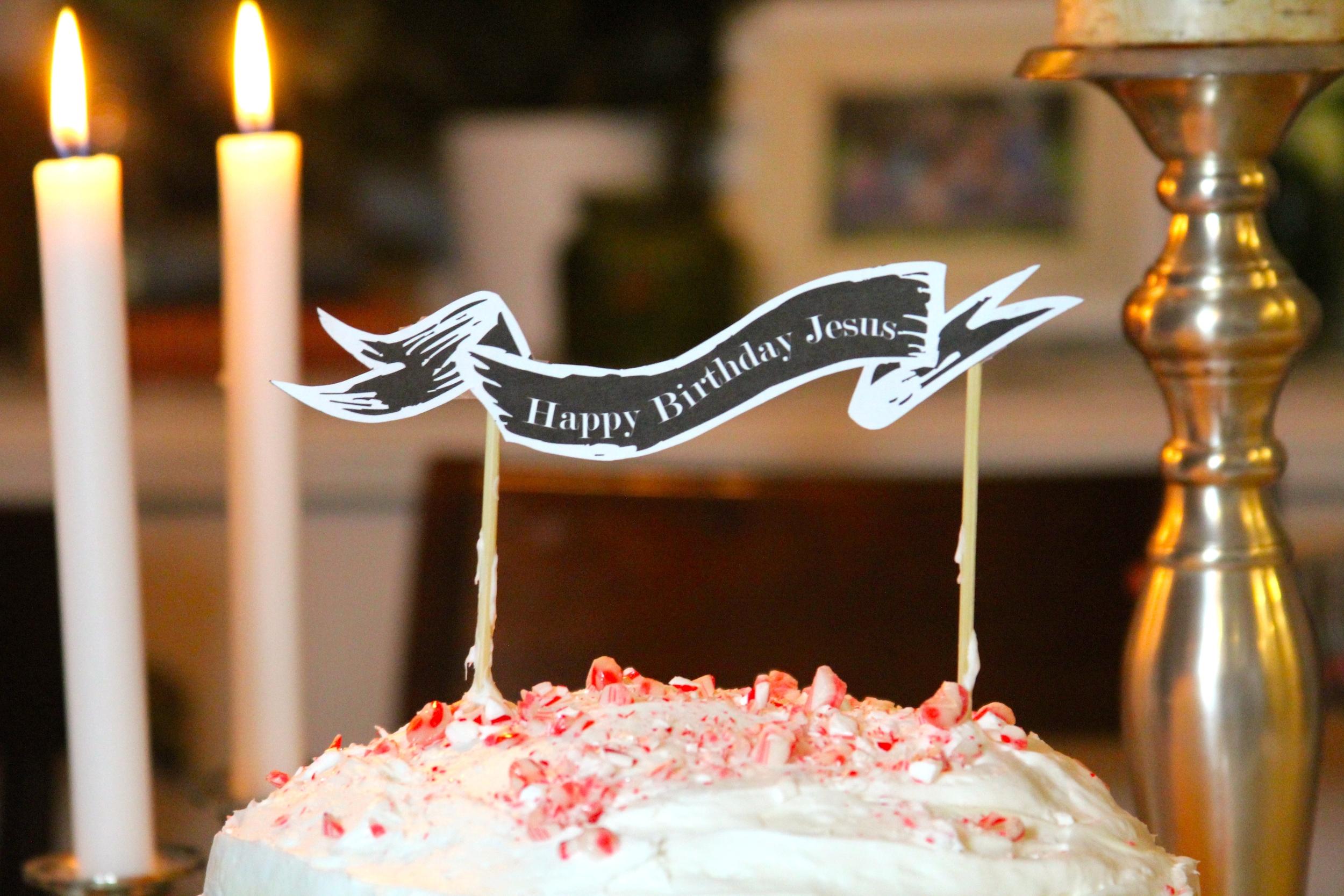 photo regarding Cake Banner Printable known as joyful birthday, Jesus! + printable cake banners teresa