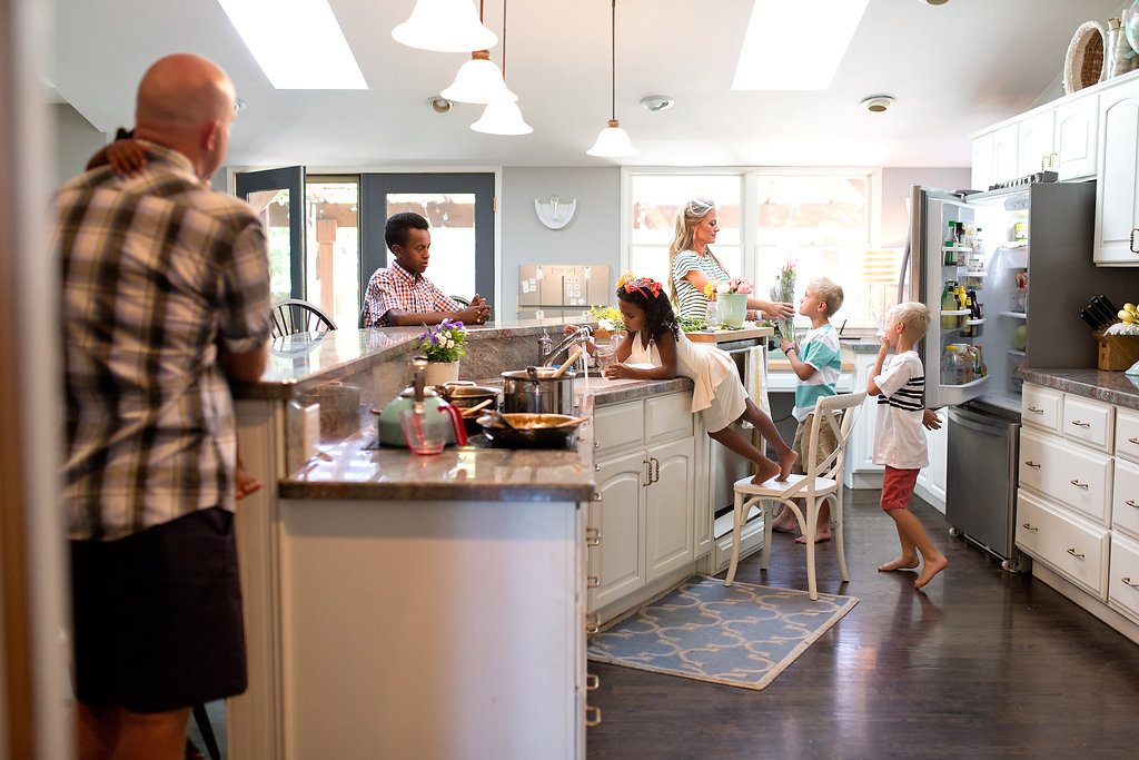 anderson family - kitchen