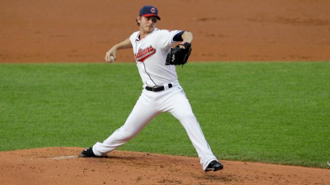 Josh Tomlin Signed Baseball