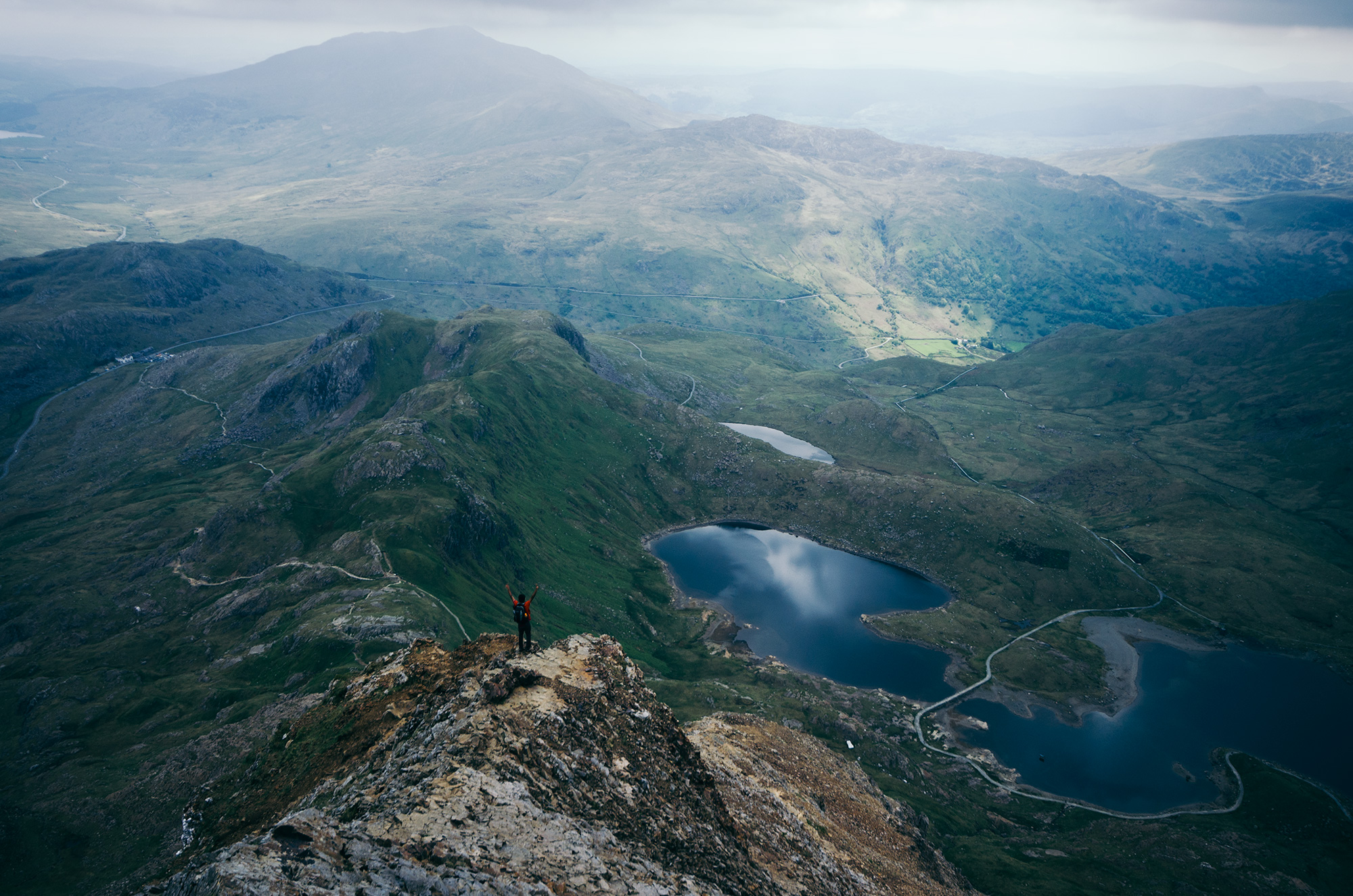 That Summit Feeling - Crib Goch, Snowdonia National Park