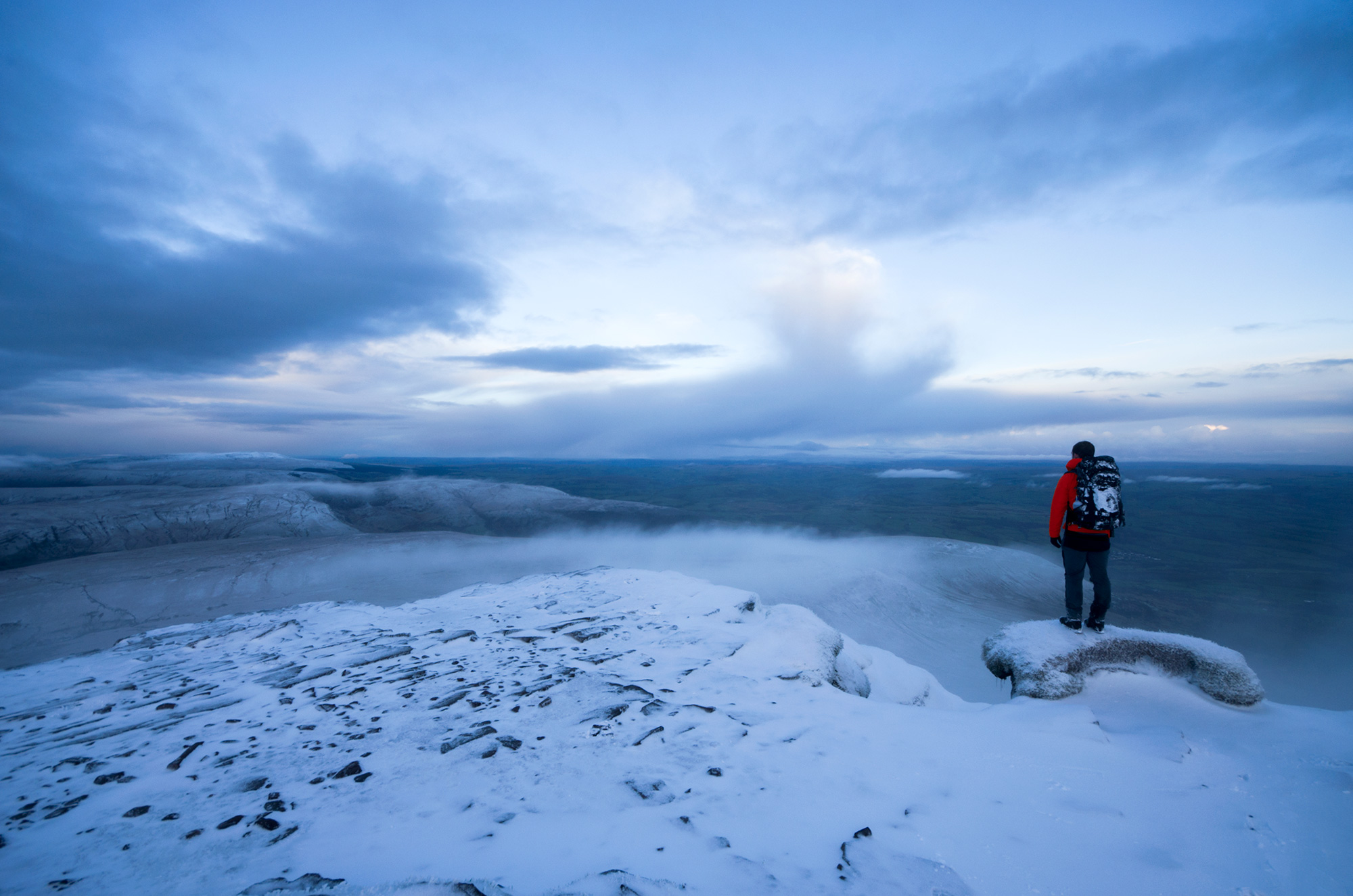 Cold, but worth it - The view from Corn Du, Brecon Beacons NP