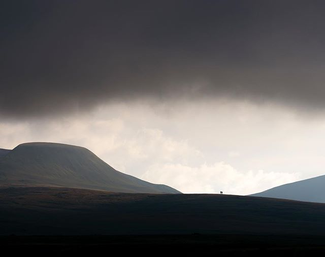 Dwarfed by the Carmarthen Fans - they never seem to disappoint.  #breconbeacons #nationalpark #camp4pix #natgeoinspires