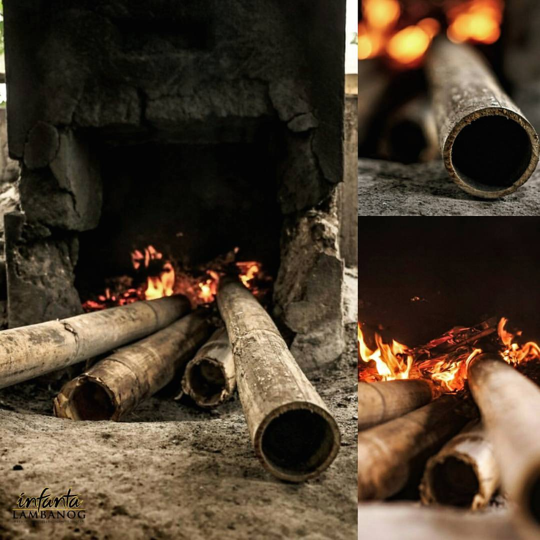 -  fire is made from all natural resources; dried palm tree branches and bamboo