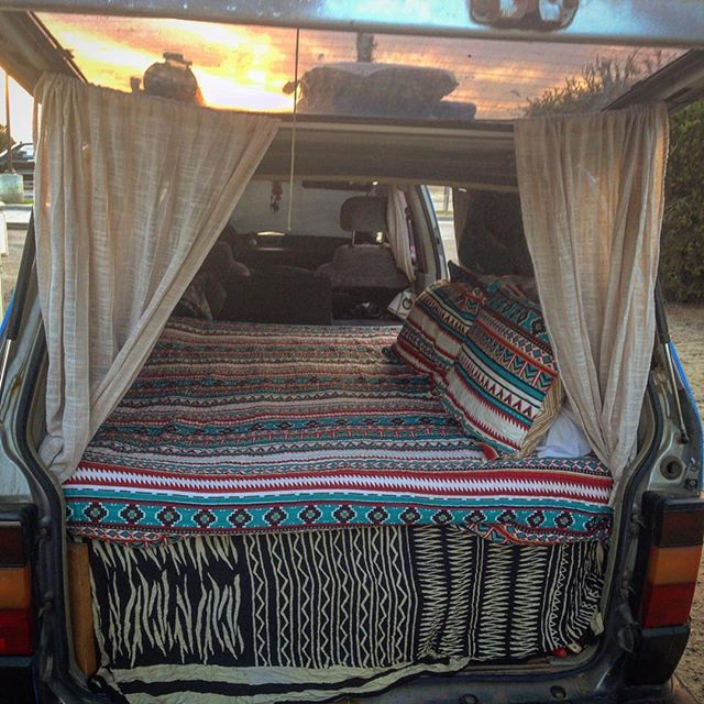 New quilt for the van! Love how such a simple thing can completely change the vibe.