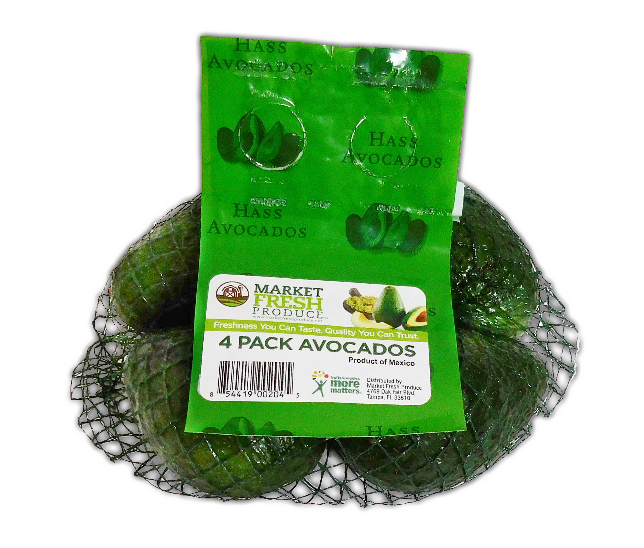 Hass Avocado Bags - We can supply 4 pack Hass avocado bags to meet your consumer needs! Our bags provide the best quality fruit and are packed 18 bags per case or can be customized to meet your requirements!