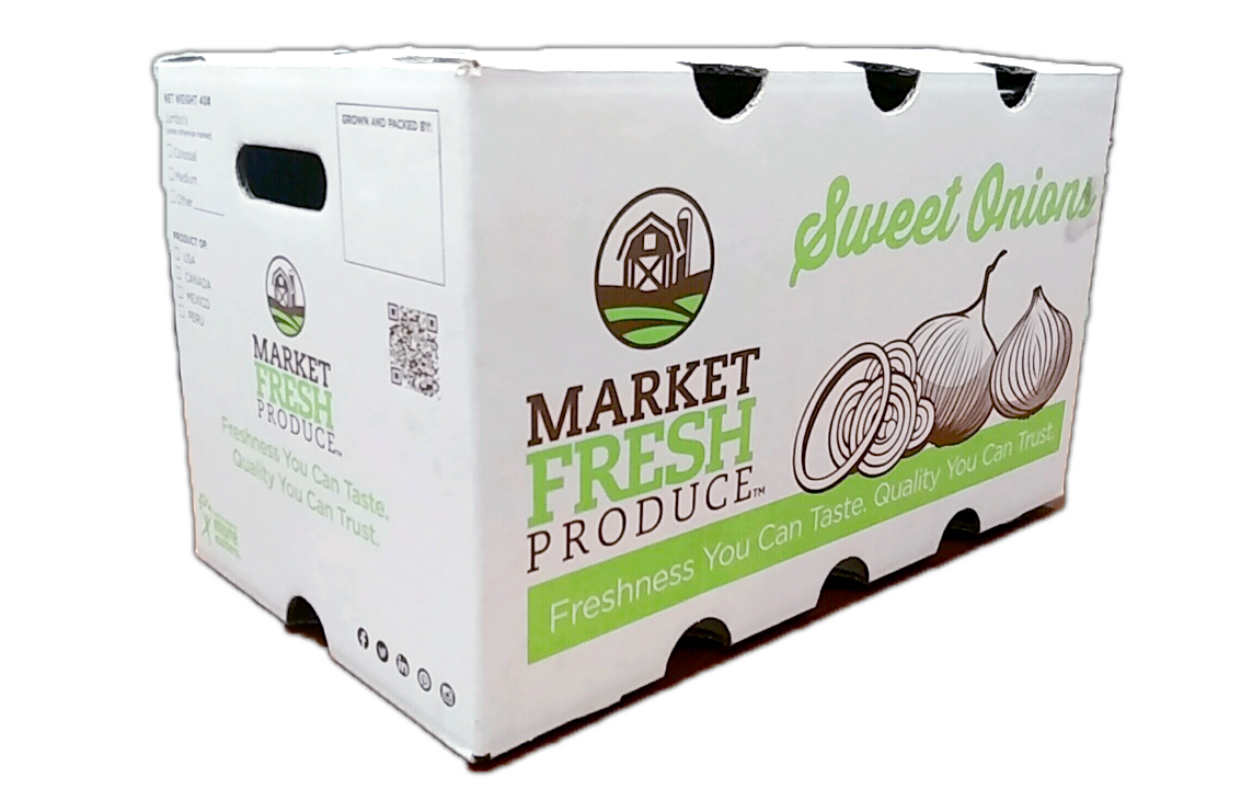Bulk Sweet Onions - Along with our sweet onion bag selection we also offer our sweet onions in bulk cases. This allows those retailers and foodservice customers to have options! These sweet onions come in a 40 pound bulk case so there will be plenty for all your consumers!
