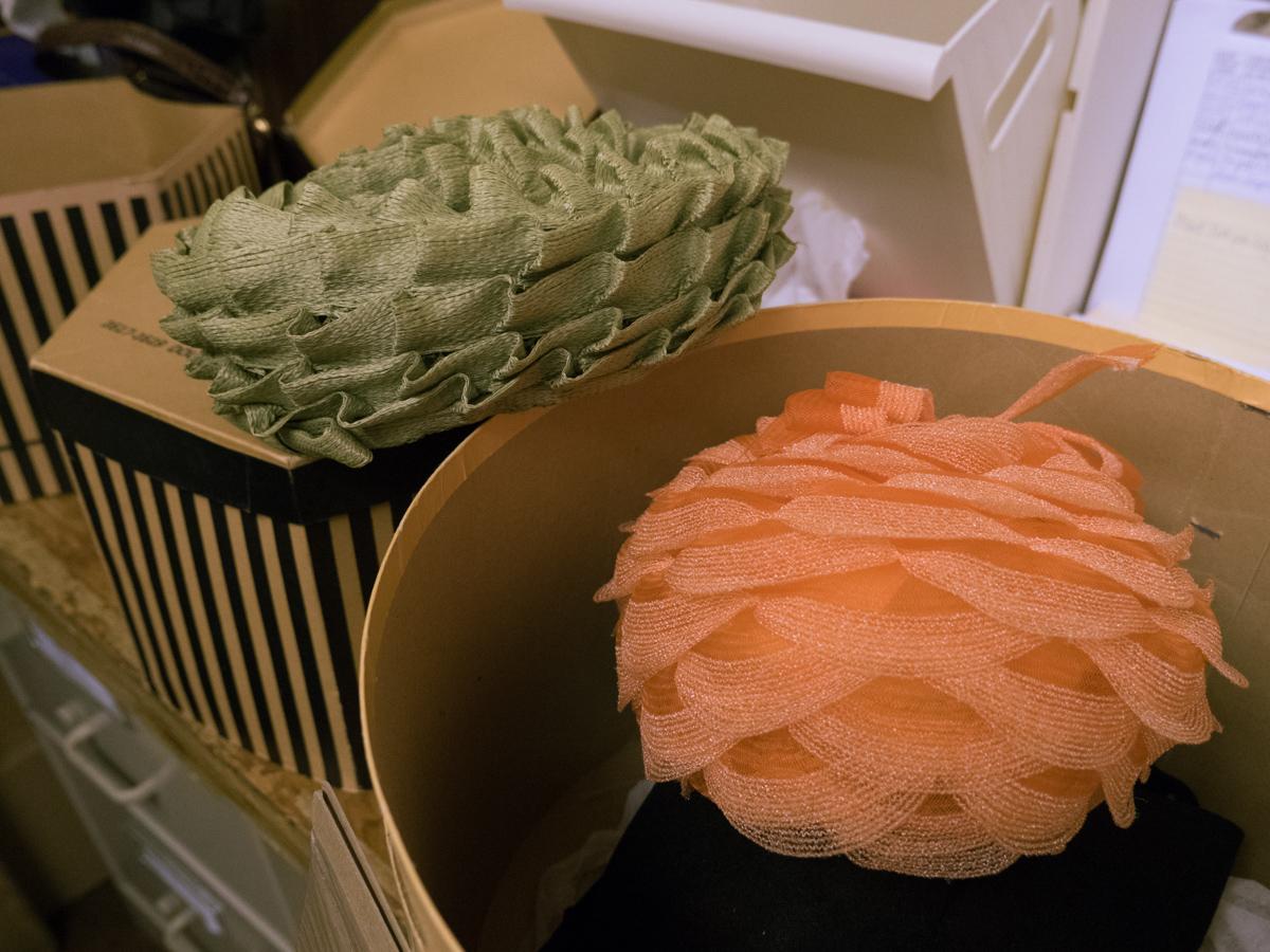 Orange and Green hats