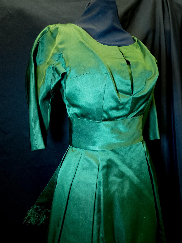 Christian Dior Green Silk