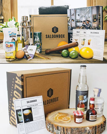 SALOONBOX DIY COCKTAIL KIT - SaloonBox is, well, awesome. Their goal is to make amazing cocktails accessible to everyone. Their subscription boxes are filled with crafty cocktail ingredients and recipes for whatever type of drinker you select. I'm not saying it's something you have sign your life away to--they have kickass gift options!$39 (per box)Choose to give a box you've built yourself for someone, a starter bar tool kit, or a 1, 3, 6, or 12 month prescription.