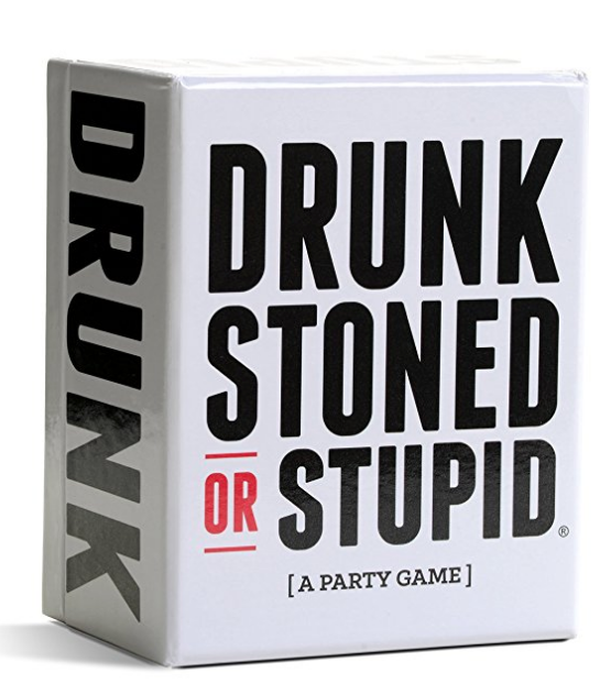 DRUNK, STONED, OR STUPID CARD GAME! - This is a hilarious game that can get reeaaal, so prepare to call out your friends. Voting style, when a card is pulled, the group votes 'WHO IS MOST LIKELY'...whoever gets the most cards in the end loses. Time to decipher who is drunk, stoned or stupid!$16