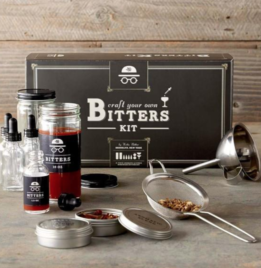 CRAFT YO OWN BITTAS! - Hella Cocktail Co. is always there with the bold flavors and kickass ingredients. I mean…who better to craft together a home bitters making kit? They bring the satisfaction of making fine tinctures and extracts into the home of cocktail lovers and foodies everywhere.(Psst. They also make other DIY kits that are pretty sweet, like: Old Fashioned, Margarita, Bloody Mary, and Moscow Mule).$60