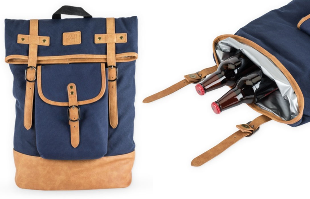 INSULATED CANVAS COOLER ADVENTURE BACKPACK! - Well. Not sure about you, but I'm no fan of warm beer. So thank goodness for insulated coolers. But not only is this cooler awesome for picnics, tailgating, and whatever random adventures lie with chilled beverages–it's also extremely stylish.$74