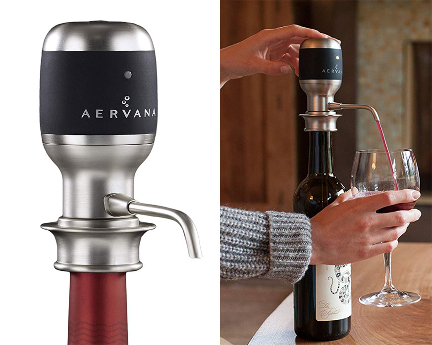 One-Touch Luxury Wine Aerator - Aervana brings you quite the dreamy wine accessory. All it takes is one simple push of a button, and then BAM! Your wine is perfectly aerated and delivered straight to your glass. Saaaayyy wwwhaattt?$90