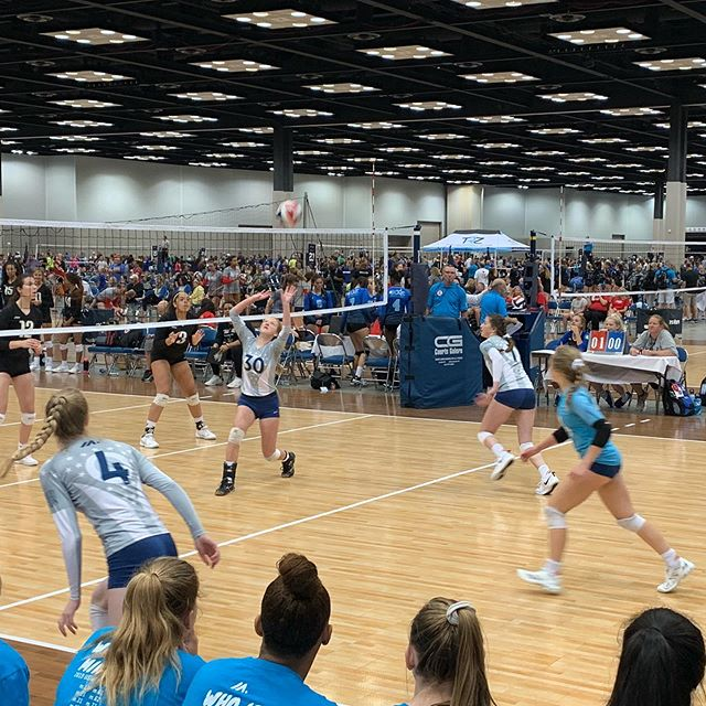 Up next, @mintonette.sports m.42 Looking to go 3-0 on day 1. #m.indy #volleyball #gjnc2019 #gjnc