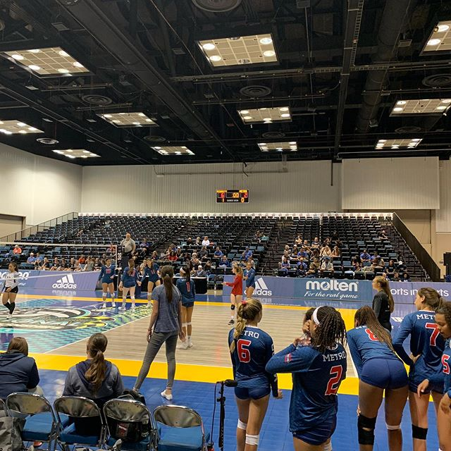 Metro 15Travel starting their quest at #GJNC on Championship court! #volleyball #clubvolleyball