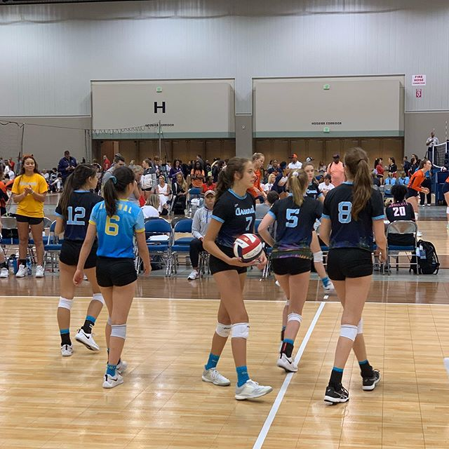 Time for @dallasarsenalvbc 15 Gold to get in the action! #clubvolleyball #gjnc