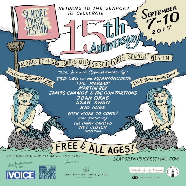 Seaport Music Festival! - OCTOBER 25TH, 2017 - James Chance & The Contortions and Martin Rev will both be performing at the 15th Anniversary Seaport Music Festival - click on the poster for details and set times!