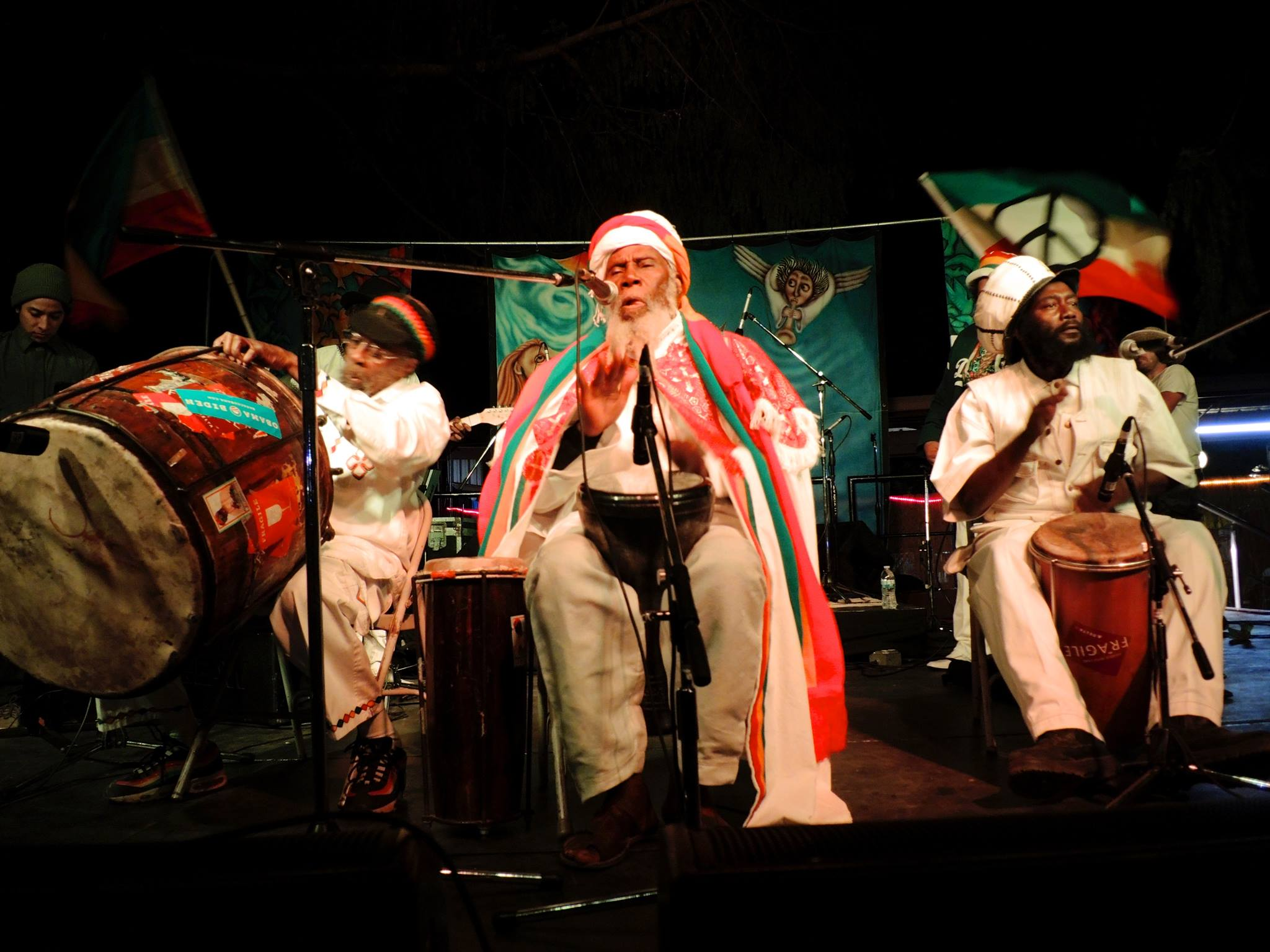 Ras Michael - Sept. 25, 2018 - Jamaican singer and Internationally acclaimed Nyahbinghi master drummer, Ras Michael will perform with his band Sons of Negus on Oct 12-14 at the Richmond Folk Festival!In 1989, ROIR released a cassette tape of Ras Michael remastered dubs called Rastafari Dub. The recording features Jamaican music heavyweights Peter Tosh, Robbie Shakespeare, Earl 'Chinna' Smith, Tommy McCook and Geoffrey Chung. It's still available to stream and buy on CD and Vinyl here!
