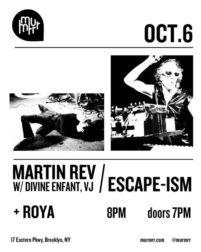Martin Rev - Oct. 3, 2018 - Martin Rev will be performing at the Murrmrr Ballroom in Brooklyn this Saturday 6th, October.As half of legendary proto-punk, electronic duo Suicide, Martin's influence can not be overstated. As well as releasing 2 Suicide albums, ROIR also released Martin's self-titled and 'See Me Ridin' albums.Stream/Buy/Download Martin Rev music here!