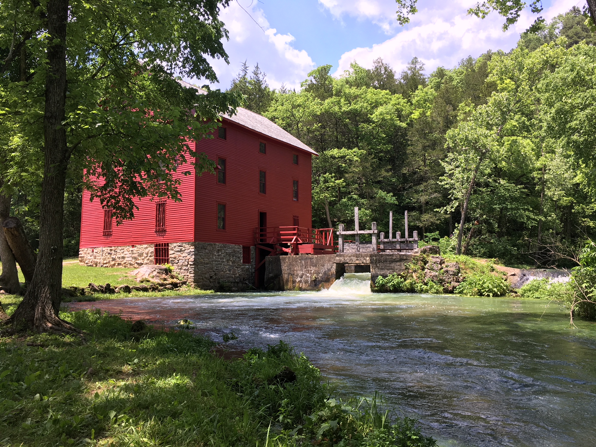 The famous Alley Spring Mill, near Eminence, is one of the most picturesque spots in the Ozarks. Tour this and other historical and geological sites along the ONSR.
