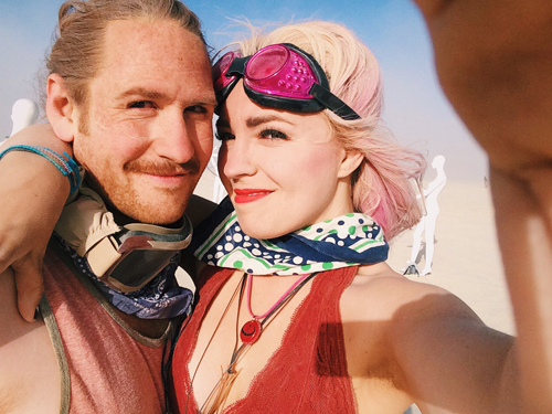 [a selfie. from our adventures at burning man.]