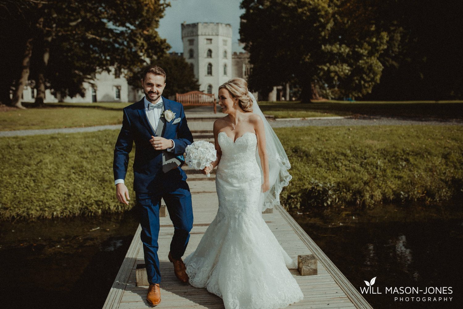 relaxed natural couple portraits at hensol castle wedding photographer cardiff