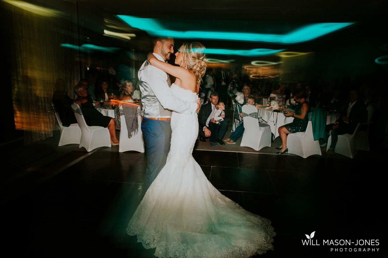 fun first dance dancefloor hensol castle wedding photographer cardiff