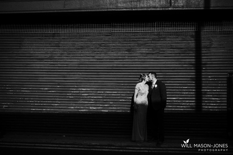 Swansea alternative urban wedding photography