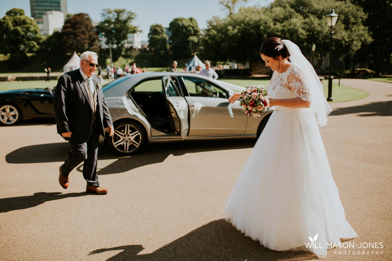Cardiff castle wedding photographer ceremony speeches portraits