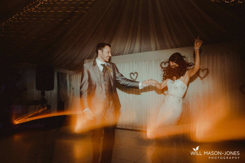 oxwich wedding reception evening dancefloor colourful fun photography