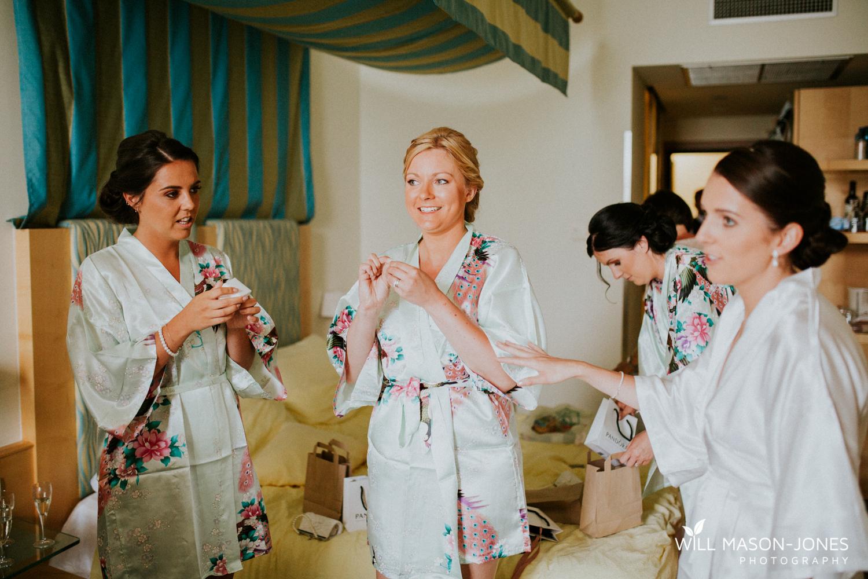 bridal preparations photography at hotel du luc for malcesine castle wedding lake garda