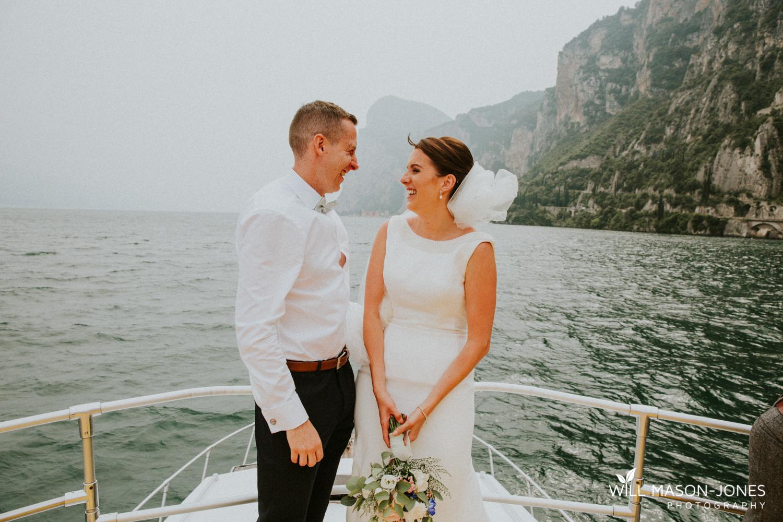 lake garda weddings boat trip after malcesine wedding