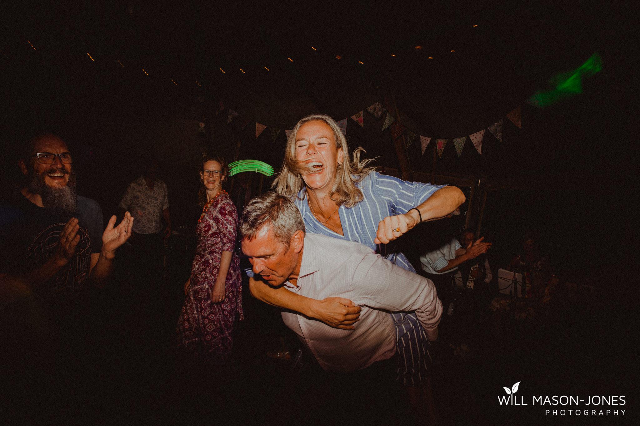 pen y banc farm wedding evening ceilidh dancing tipi photography