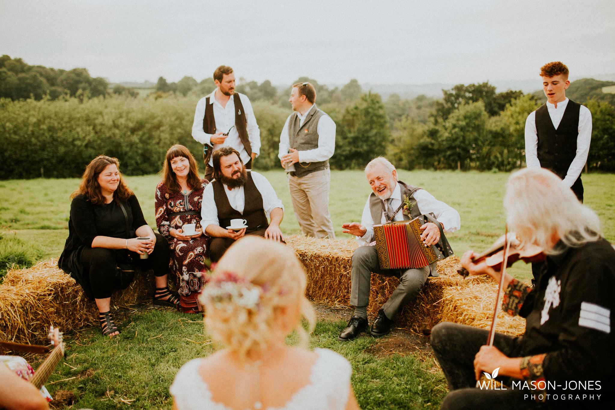 pen y banc farm wales tipi folk festival relaxed colourful wedding photography