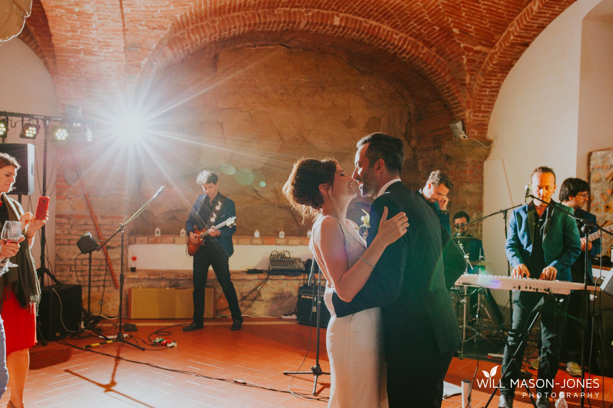 Borgo Il Castagno tuscany Italy villa destination wedding evening reception dancefloor photography