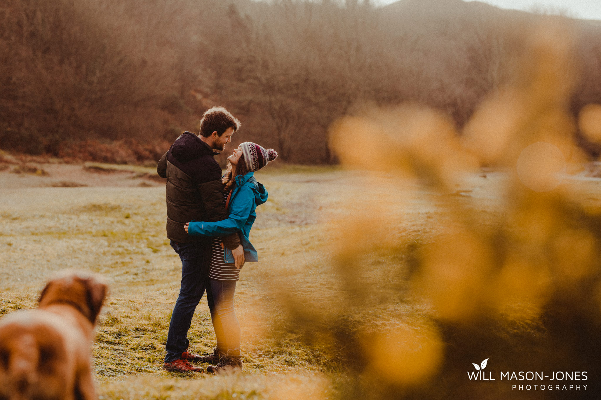 Pre wedding engagement couple photography relaxed session at three cliffs bay swansea gower