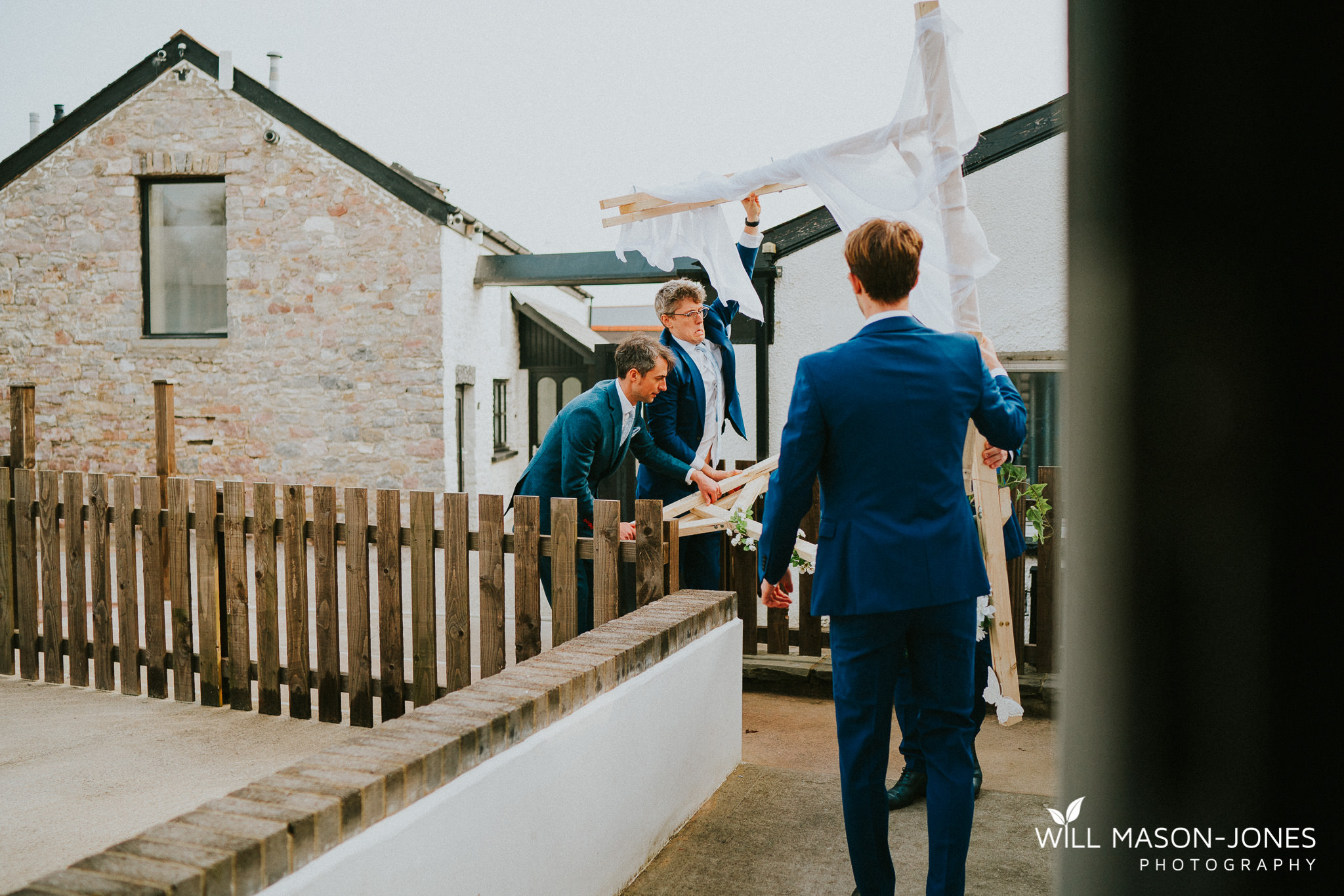 relaxed fun bridal and groom preparations at llanerch vineyard cardiff wedding