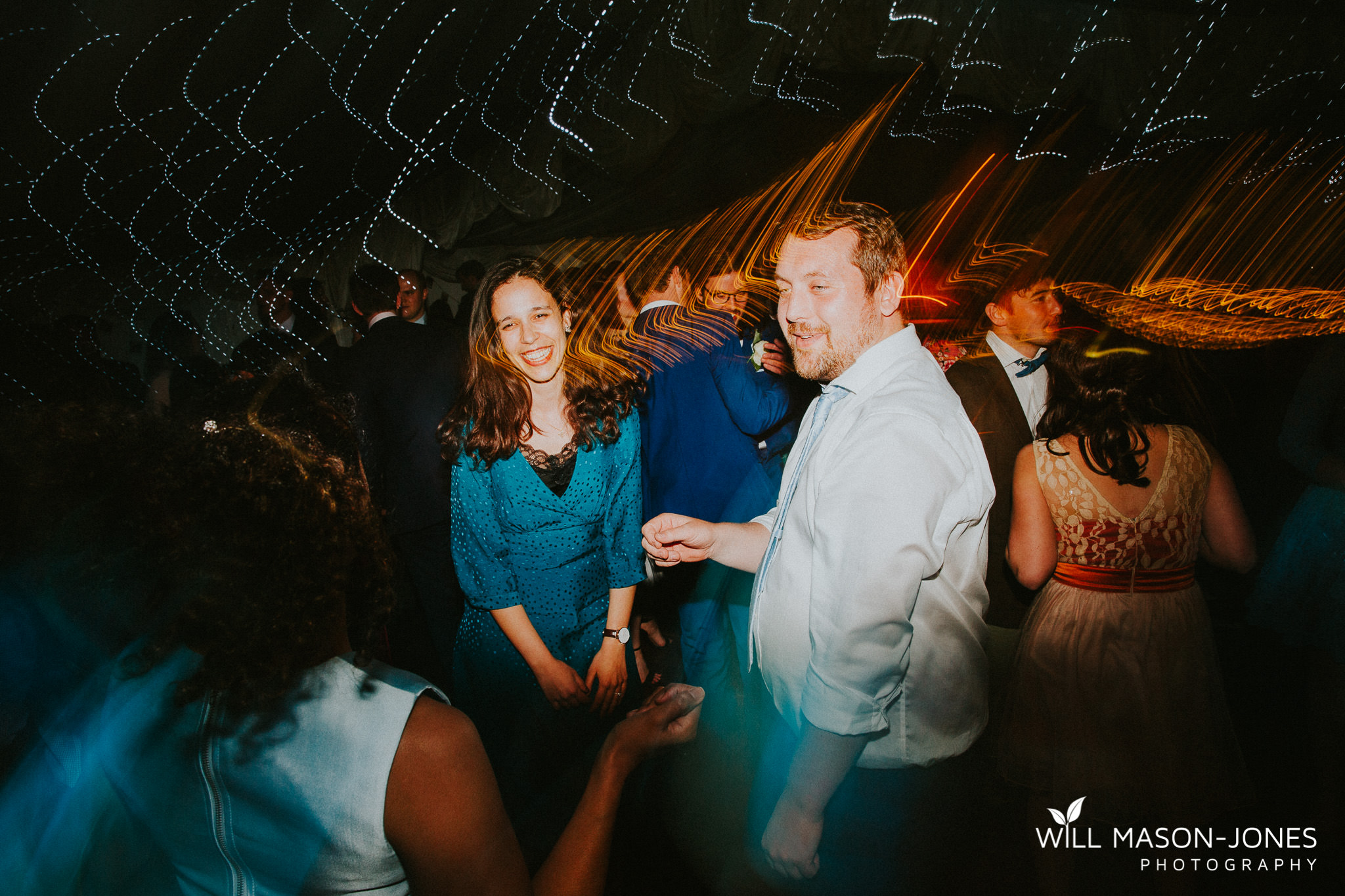colourful energetic fun dancefloor dancing photography llanerch vineyard wedding cardiff