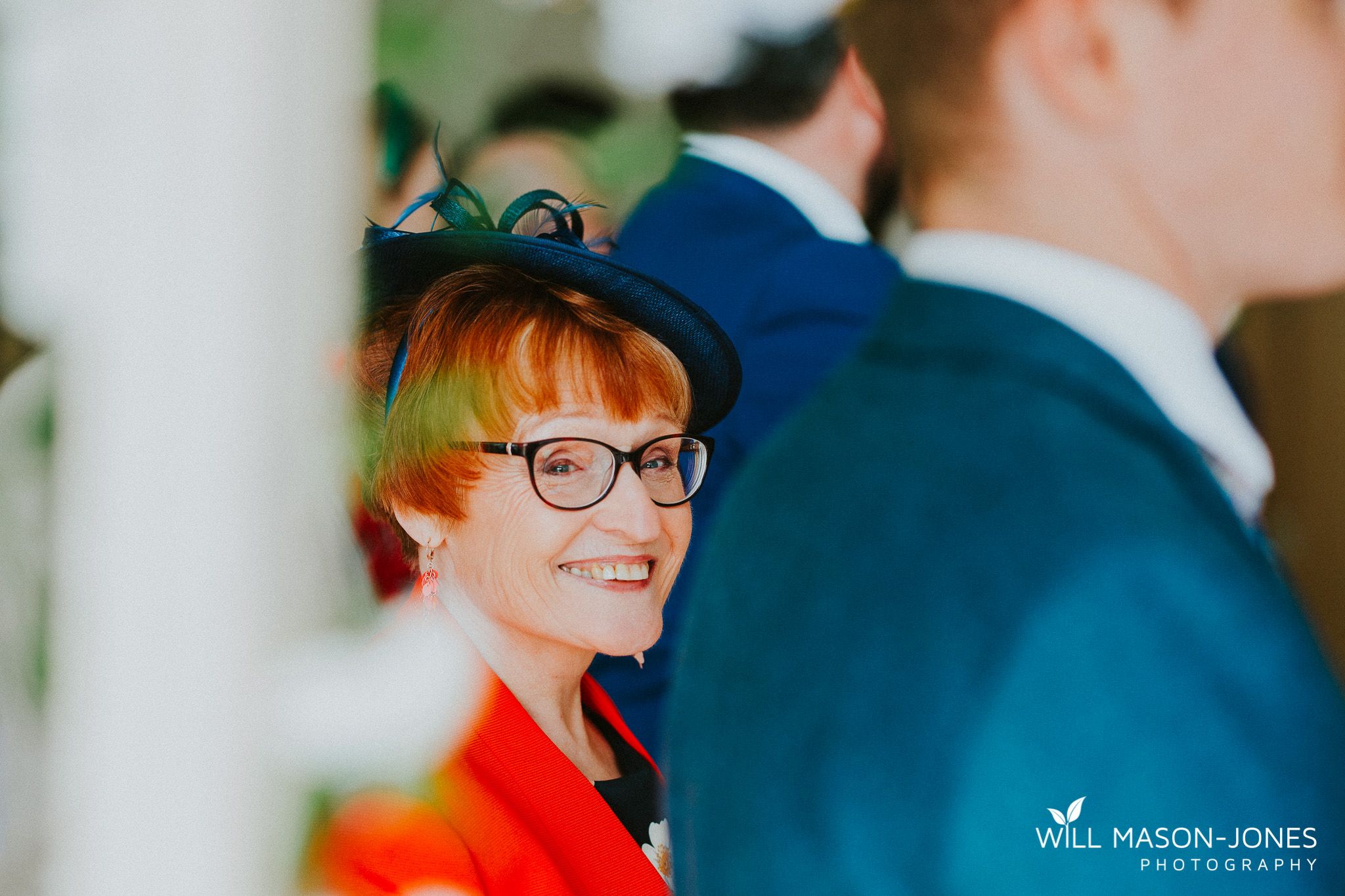 fun happy colourful wedding ceremony photography llanerch vineyard cardiff